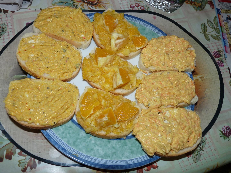 3 Pomazánky ze zázvoru – sýrová, pomerančová, jablečná