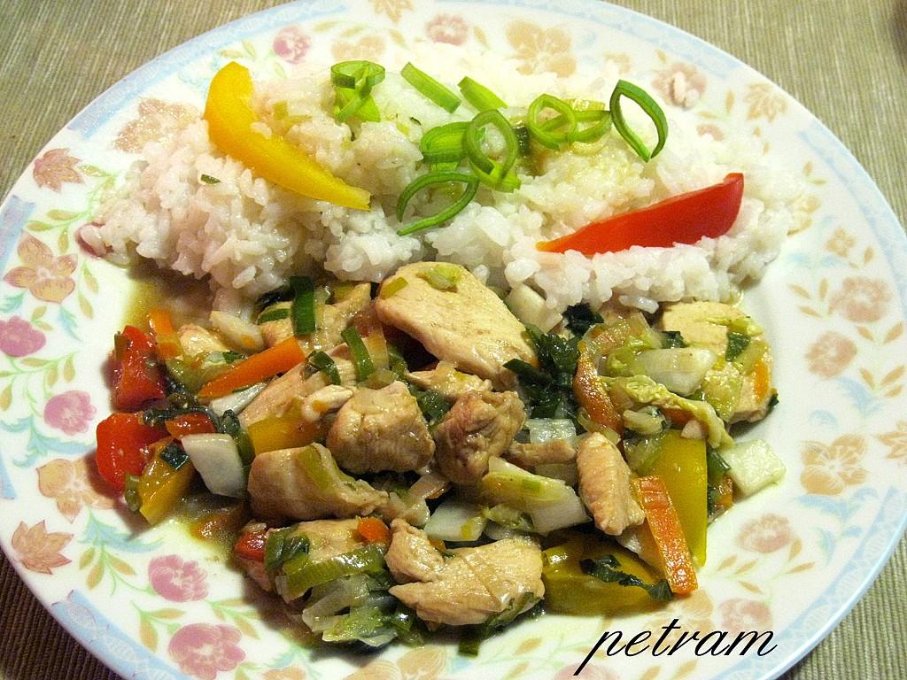 Barevná kuřecí čína