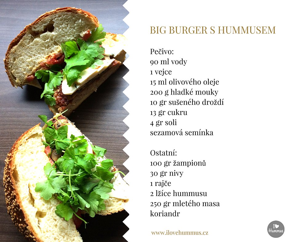 Big Burger s hummusem