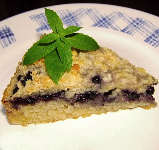 Borůvkový máslový koláč