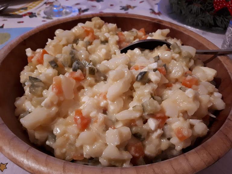 Bramborový salát se zálivkou (bez majonézy)