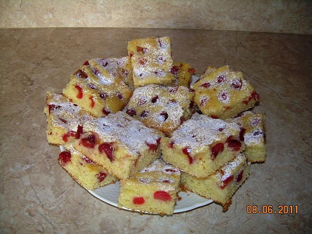 Bublanina s třešněmi (nebo jiným ovocem)