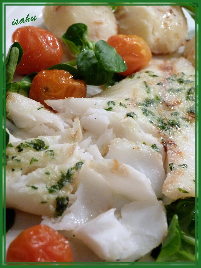 Červenice obecná s bazalkovo-česnekovým máslem