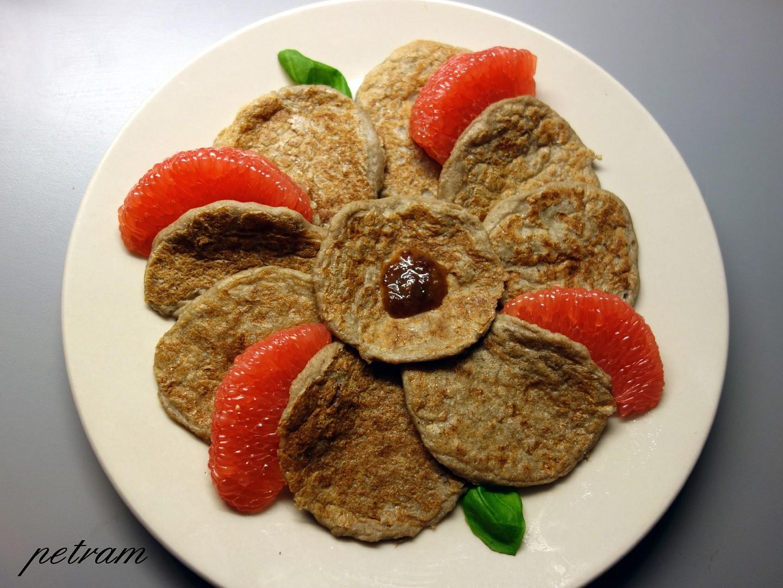 Čirokovo-slunečnicové lívanečky (s minimem škrobů) bez lepku, mléka a vajec