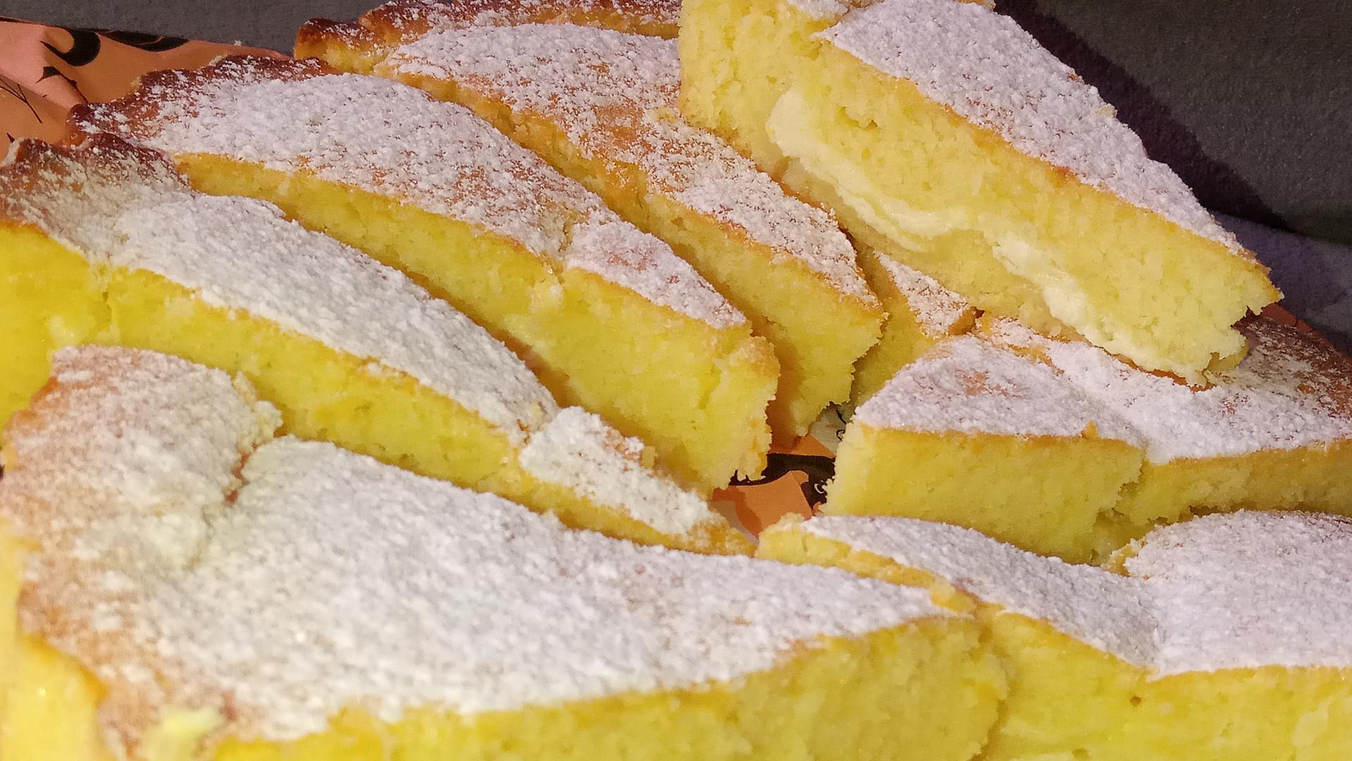 Citronová buchta s tvarohem