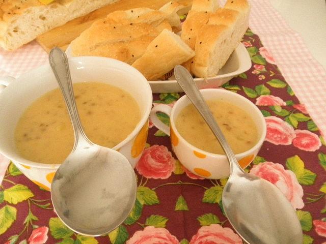 Čočková polévka se smetanou