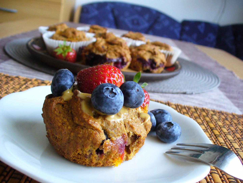 Datlové muffiny s ovocem