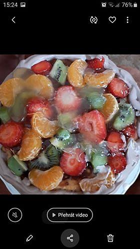 Domácí ovocný dort