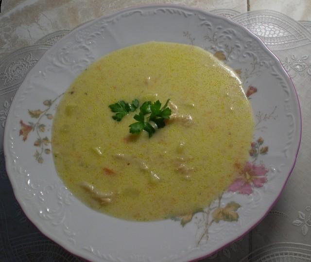 Dršťková polévka se smetanou