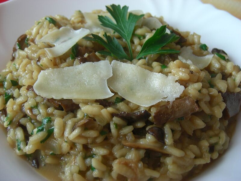 Hříbkové risotto (Risotto ai fungi porcini)