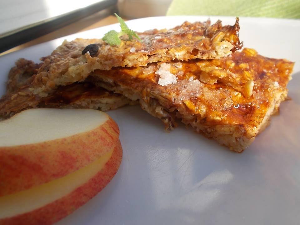 Jablkové müsli řezy s ovesnými vločkami