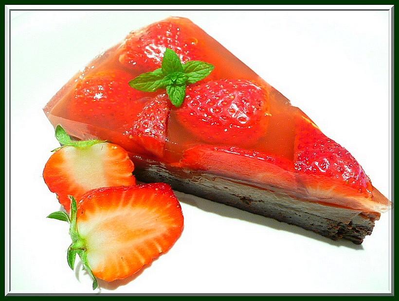 Jahodovo pudinkový dort