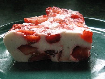 Jahodový dietní dort
