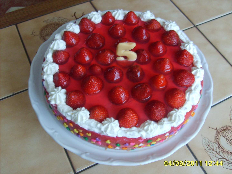 Jahodový dortík Kristýnka