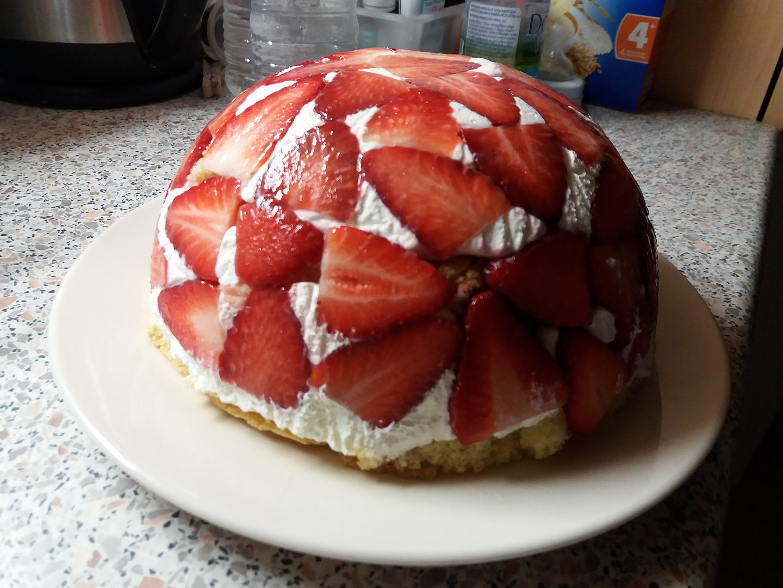 Jahodový dortový sen
