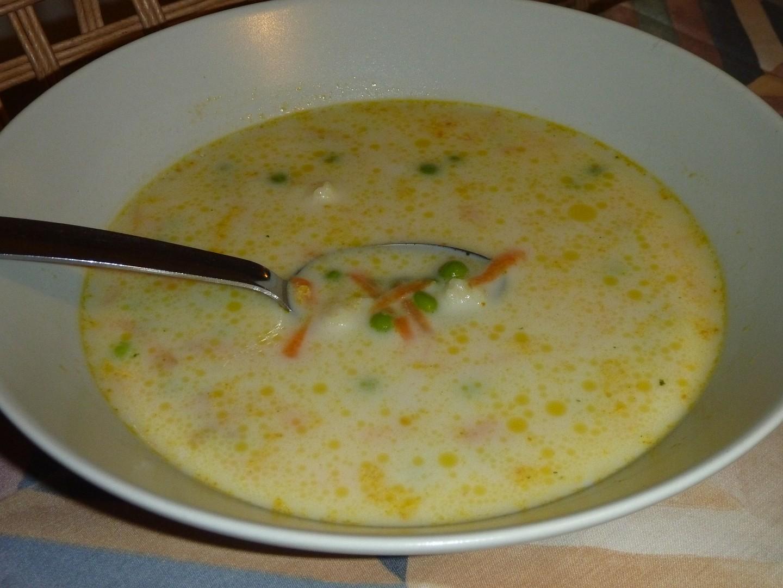 Jemná hrášková polévka s mrkví