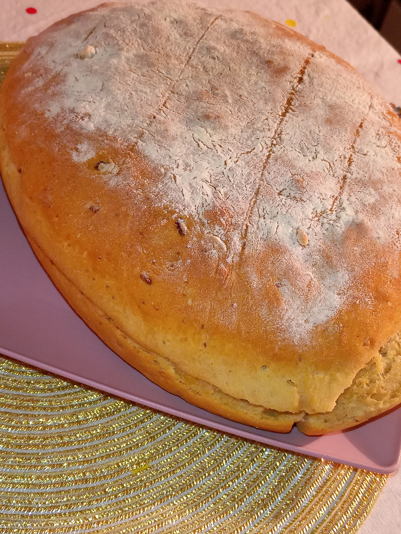 Křupavo - vláčný bramborový chleba