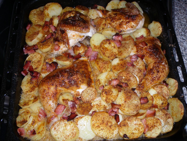 Kuře na zelí s anglickou slaninkou