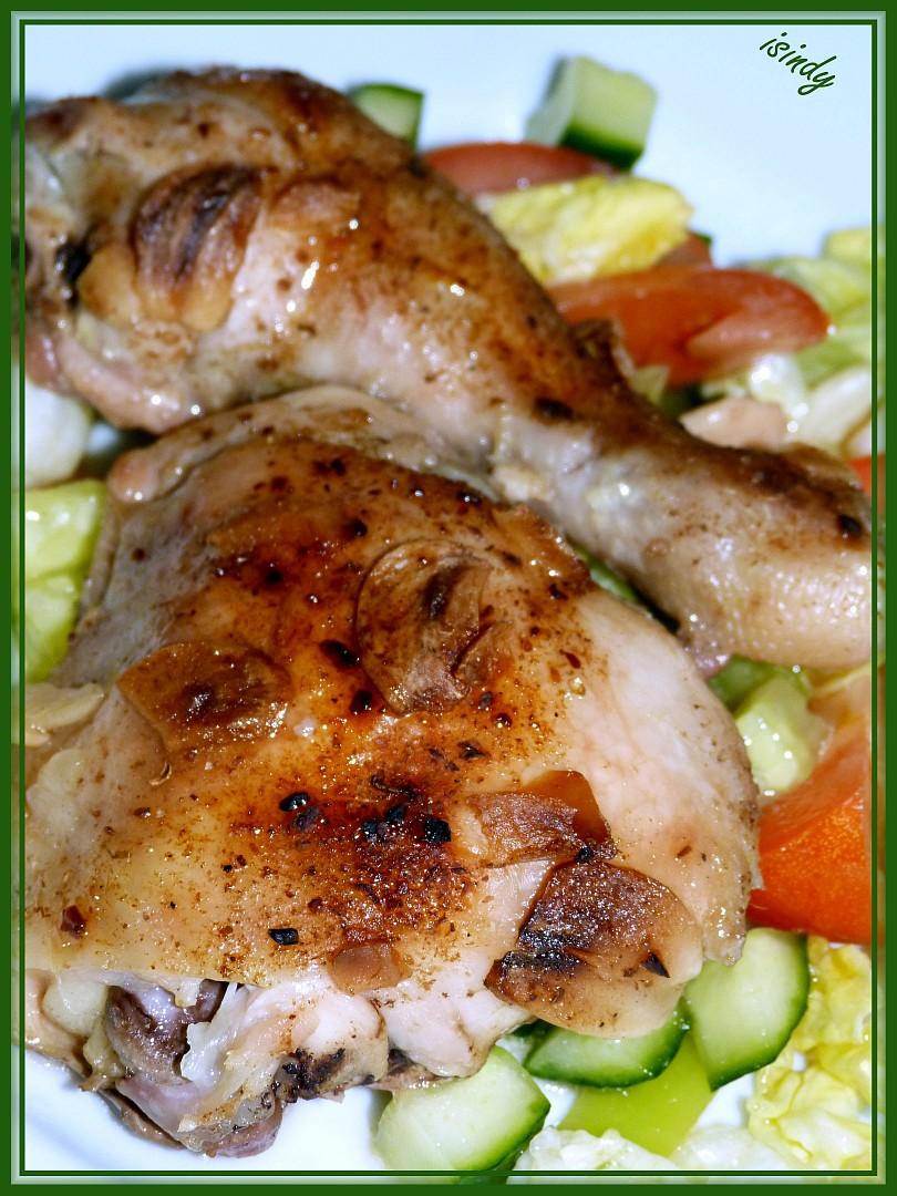 Kuře s houbovým kořením a česnekem