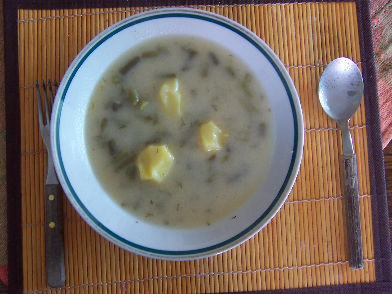 Kyselá polévka ze zelených fazolek