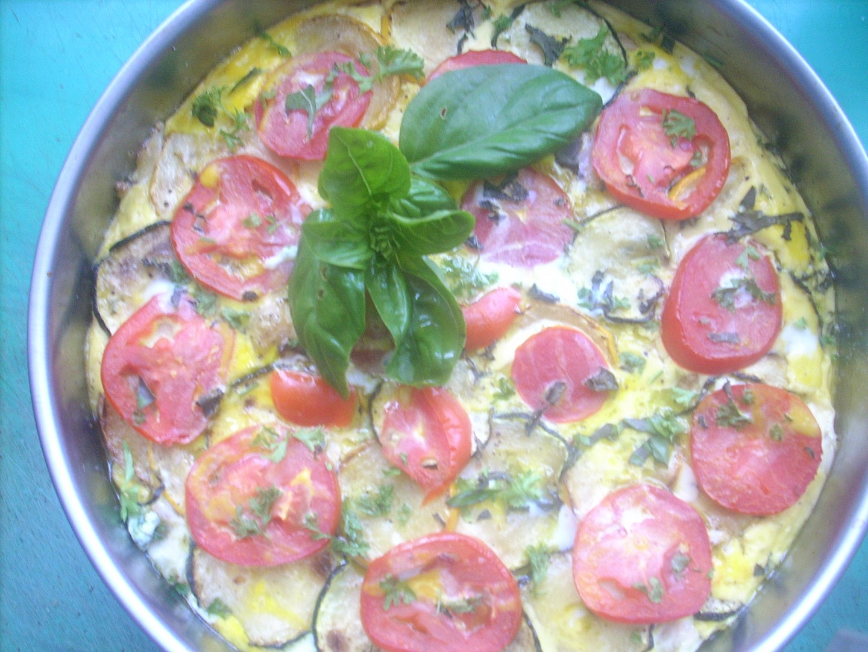 Letní omeleta s cuketami a kuřecím masem