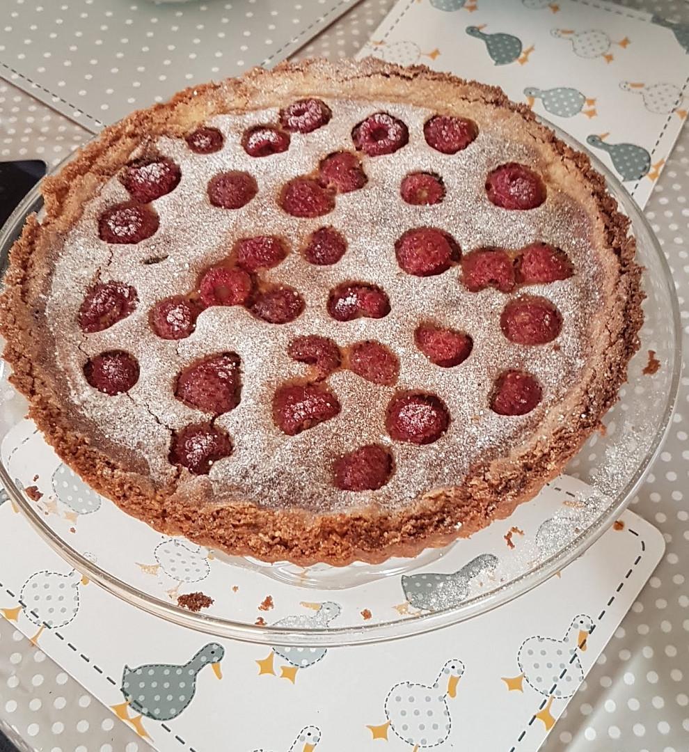 Malinový koláč - bezlepkový