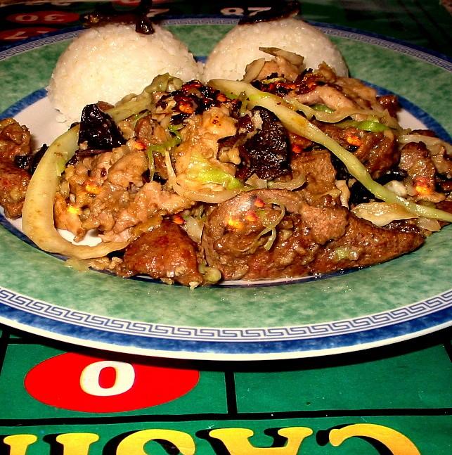 Maso dvou barev - čínská kuchyně