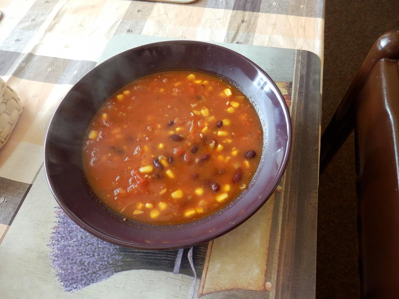Mexická polévka s klobásou