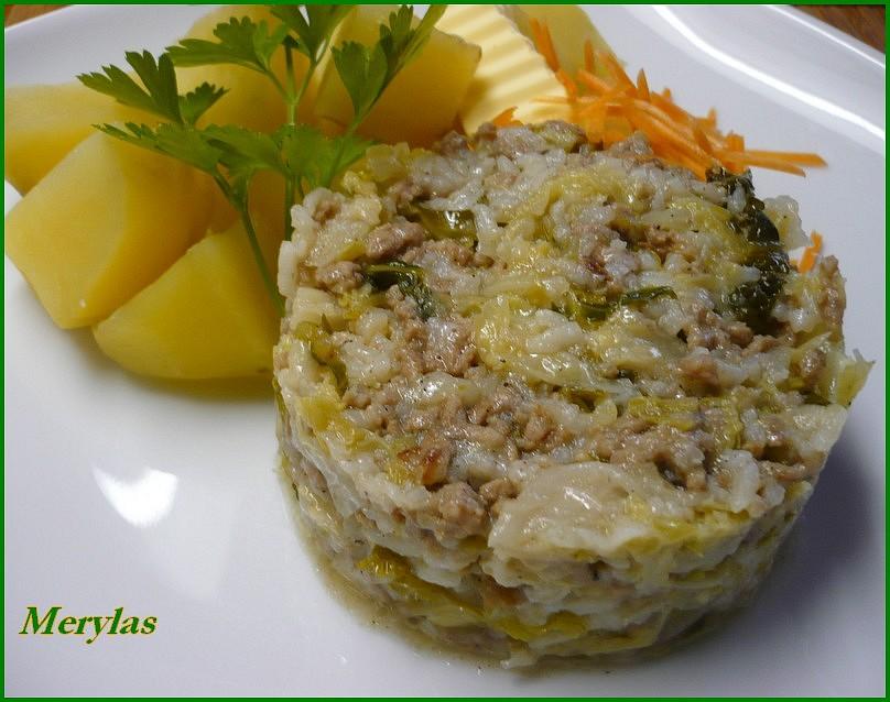Mleté maso s kapustou a rýží