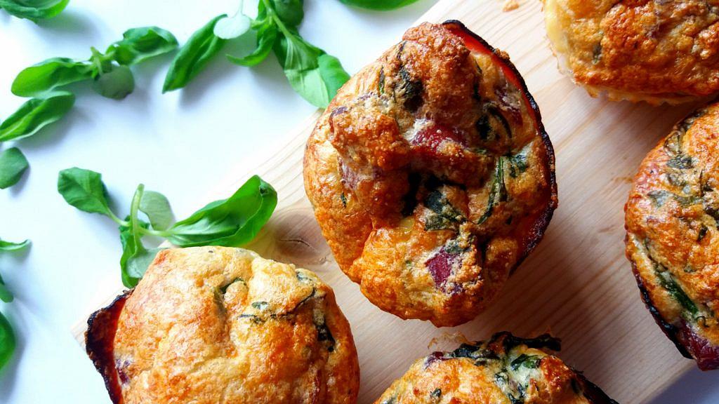 Muffiny z uzeného masa
