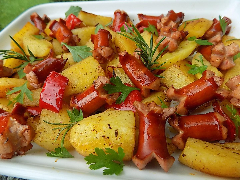 Pečené debrecínské brambory