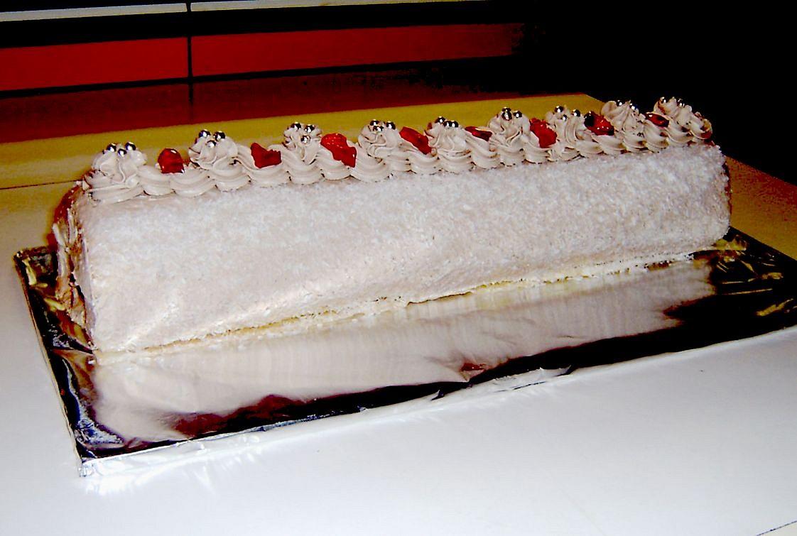 Piškotová roláda s banánem