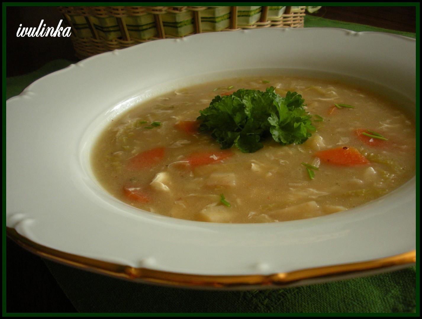 Polévka s pekingským zelím