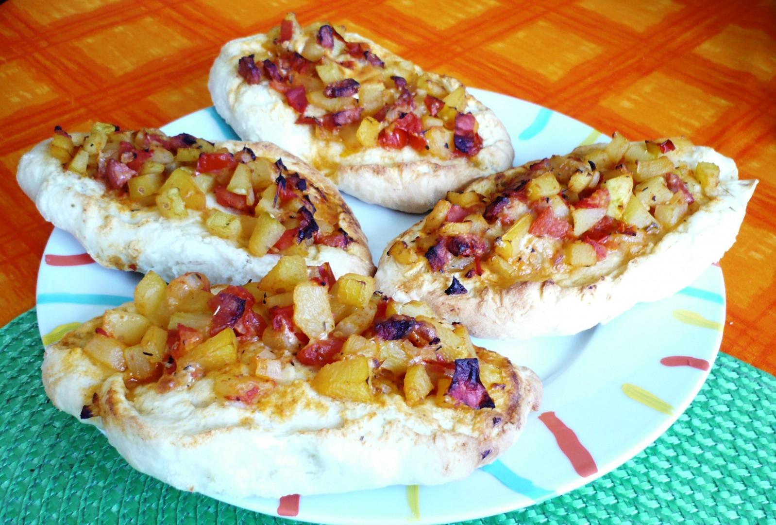 Rajčatovo - tykvové (cuketové) lodičky