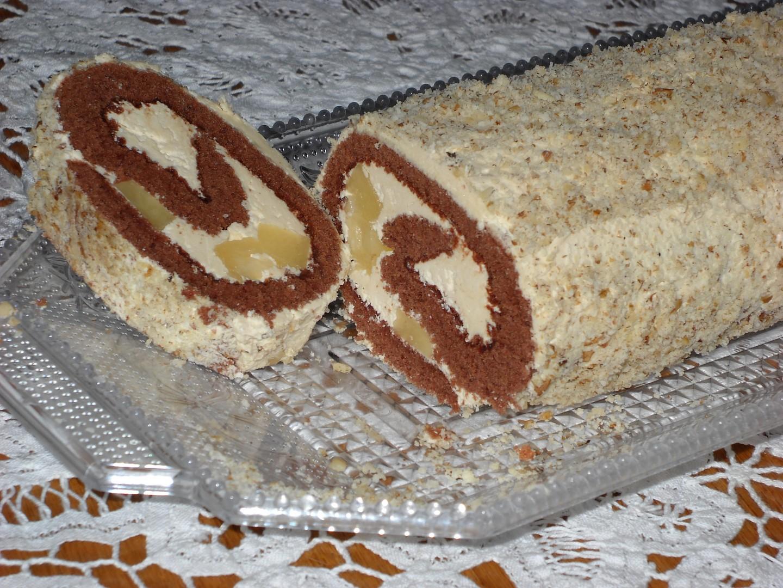 Roláda s karamelovým krémem