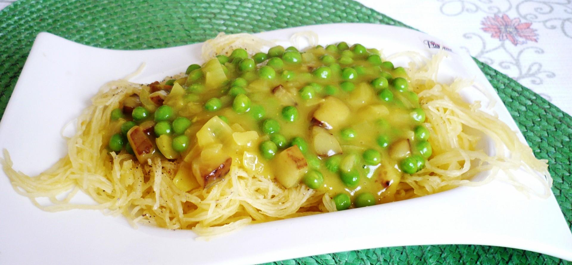 Špagetovka s hráškovou omáčkou