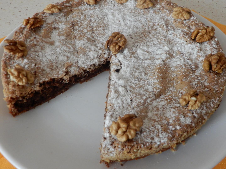 Stockholmský ořechový koláč