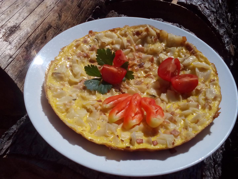 Šunko-flíčková omeleta