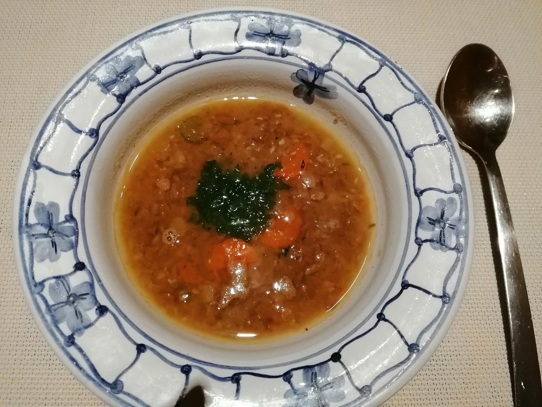 Sváteční čočková polévka