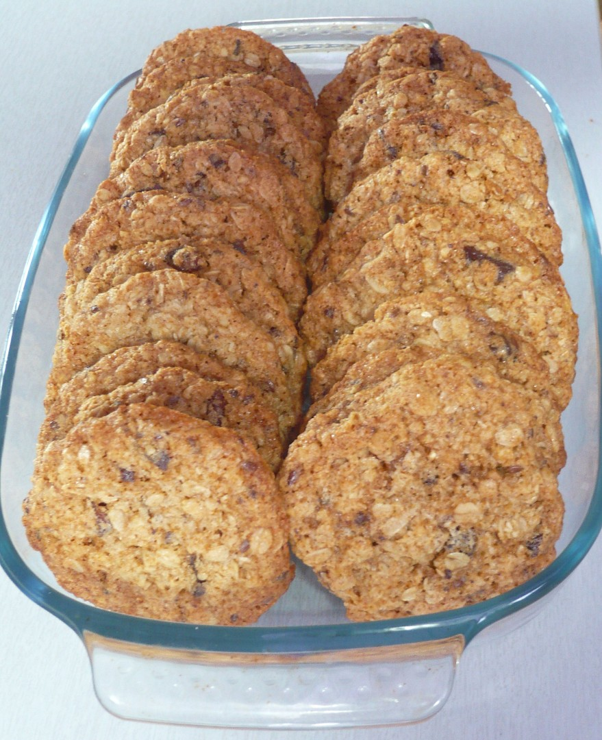 Vločkové zdravé sušenky