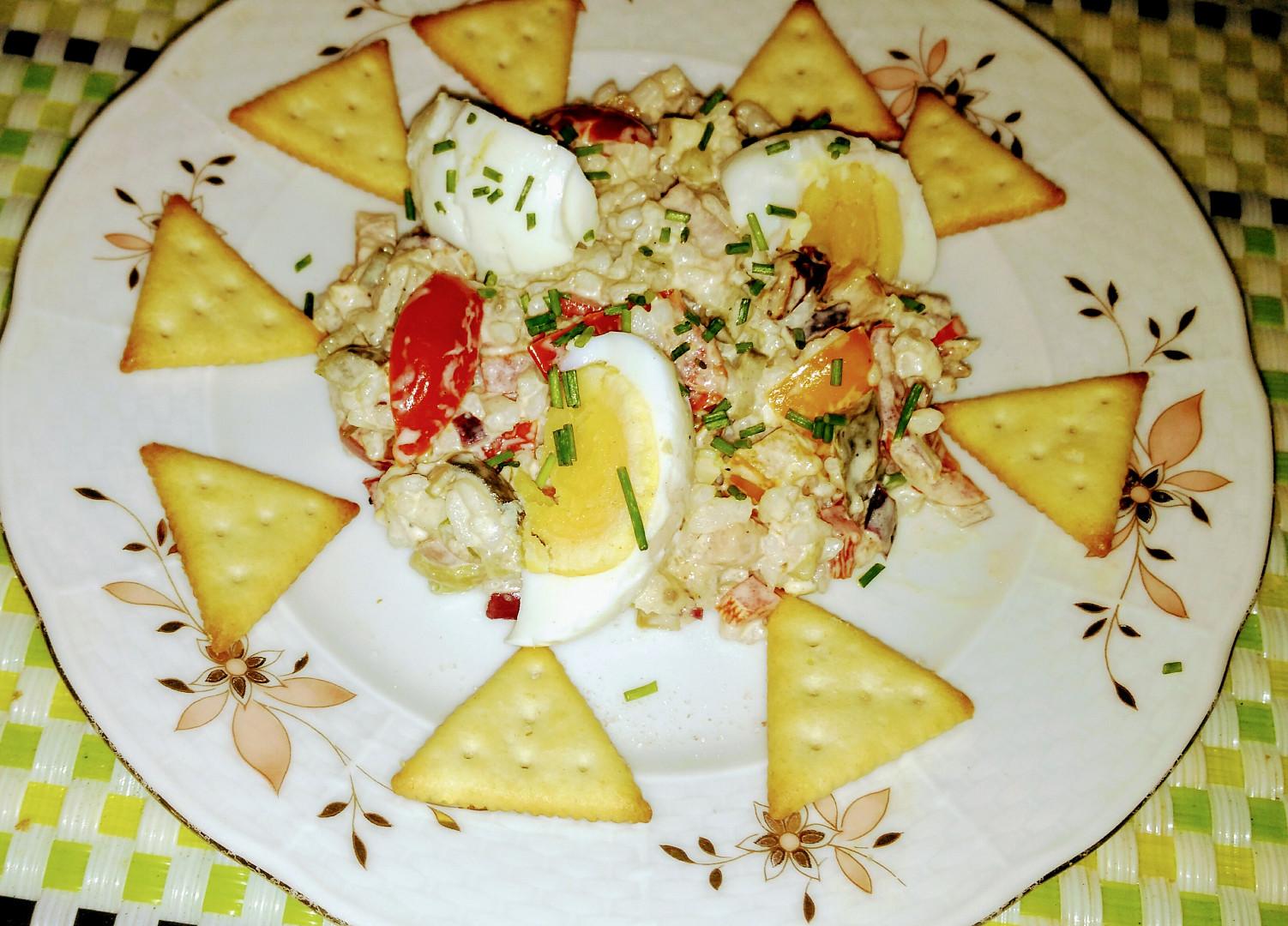 Výtečný rýžový salát podle babičky
