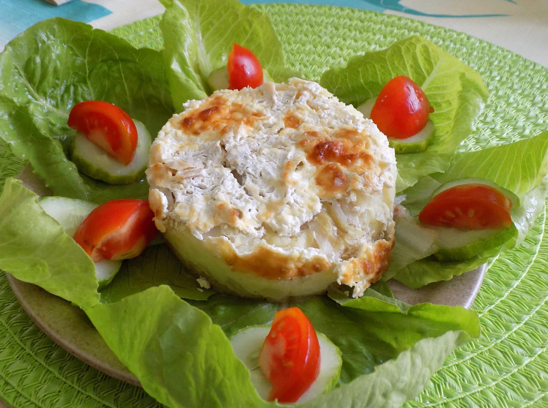 Zelí zapečené s bramborovou kaší